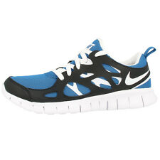 NIKE FREE RUN 2 GS RUNNING SHOES TRAINERS 443742-407 BLUE WHITE BLACK 3 5.0