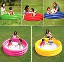 BESTWAY PLAY INFLATABLE 3 RING TOY CRYSTAL PADDLING SWIMMING POOL GARDEN GAME
