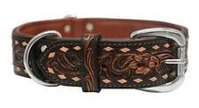 THE TUCSON Genuine Leather Dog Collar * 6 Sizes * Brown Hand Dyed & Hand Crafted