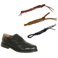 Pair 3mm Round Wax Shoe Laces Shoelace Waxed Bootlaces for Leather Boot Brogues