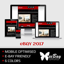 eBay Listing Template Professional Auction Design Mobile Friendly HTML 2017 *1R