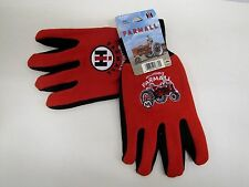Case IH McCormick Farmall Red Jersey Gloves - Men's Size Large - Non-Slip Grip