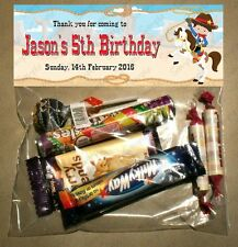 PERSONALISED BIRTHDAY LOLLY/LOOT BAG & TOPPER - WESTERN/COWBOY