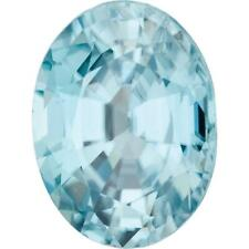 Natural Fine Sea Foam Blue Zircon - Oval - Cambodia - AAA Grade