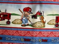 "CASE INTERNATIONAL HARVESTER FARMALL IH ""WHAT HAPPENS ON MY TRACTOR"" BOY FABRIC"