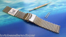 SHARK MESH SS DIVERS WATCH STRAP BRACELET 18mm 20mm 22mm FITS SEIKO & OMEGA