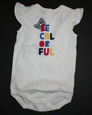 New Gymboree Be Colorful Bodysuit Onesies NWT 6-12M 12-18M 18-24M By Seashore