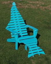 Oversize Poly Dolphin Adirondack Chair w/Ottoman & End Table - Amish Made