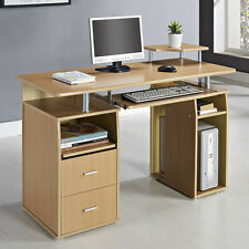 Modern Office Desk Home PC Furniture Computer Writing Table Drawer Storage Shelf