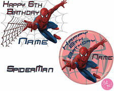 Spiderman Personalised Edible Image on REAL Icing Birthday Cake Topper