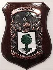 CORMICAN to COWELL Family Name Crest on HANDPAINTED PLAQUE - Coat of Arms