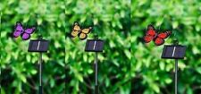 Solar Powered Outdoor Garden Patio Fluttering Butterfly New