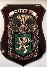 MC ELWAIN to MC GIRR Family Name Crest on HANDPAINTED PLAQUE - Coat of Arms