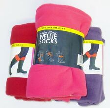 Ladies Fleece Wellie Socks SK205 3 Colours To Choose From*