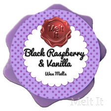 BLACK RASPBERRY & VANILLA scented soy wax tarts melts candle for oil burner 25g