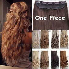Real Thick hair Long Curly Wavy Straight Clip in Hair Extensions One Piece su08