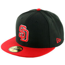 New Era 59Fifty San Diego Padres Fitted Hat (Black/Red/White-Red) Men's MLB Cap