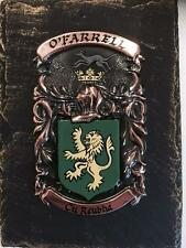Handpainted COAT OF ARMS Crest Shield on SLATE - Mc Ilroy to Mc Leod