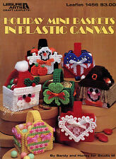 Holiday Mini Baskets ~ 6 Classic Motif Treat Baskets plastic canvas patterns
