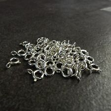 925 Sterling Silver 5.5mm Spring Ring Clasp open Jump ring,5,10,20,30,50,100 pcs