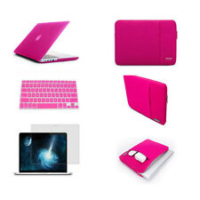 Pink hard case sleeve bag screen protector keyboard cover For macbook Pro Air