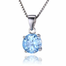 Jewelrypalace 2.4ct Genuine Sky Blue Topaz Pendant Necklace 925 Sterling Silver