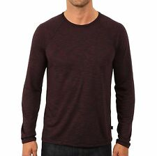 John Varvatos Star USA Men's Raglan Crew T-Shirt Space Dyed Cherry $98 msrp NWT