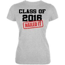 Graduation - Class of 2016 Nailed It Heather Grey Juniors Soft T-Shirt