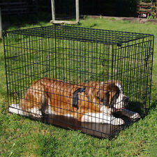 Fold Flat Pet Crate W/ Mattress Dog Cat Carrier Puppy Kitty Travel Kennel Cage