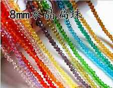 wholesale beautiful multicolor 8 mm crystal flat beads crystal beads 21 color