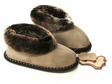 Kids Genuine Sheepskin Slippers , 100% Leather ! Home Shoes , Boots , Warm