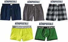 NWT Sz XS & S Aeropostale Men Striped,Plaid,Solid Waist Band Woven Boxers Briefs