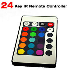 24 KEY IR REMOTE CONTROLLER BOX 12V FOR RGB LED 3528 5050 SMD STRIP LIGHTS