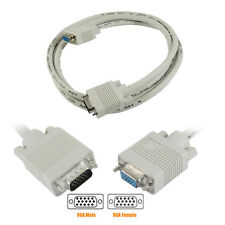 1m 2m VGA Male to Female Extension Cable Lead for PC Laptop LCD TFT Monitor