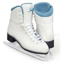 New Jackson Ultima GS180 Ladies SoftSkate Ice Figure Skates w padded Blue Lining