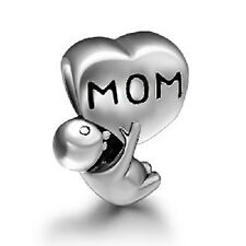 Mother child baby Son daughter Love mom, Mothers day charm bead F/Euro Bracelets