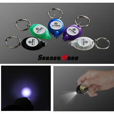 5 Color Mini LED Colorful Flashlight Keychain Lamp W/Button Battery White Light