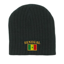 SENEGAL FLAG Embroidery Embroidered Beanie Skull Cap Hat