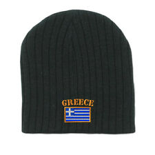 GREECE FLAG Embroidery Embroidered Beanie Skull Cap Hat