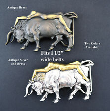 BULL BELT BUCKLE BULLFIGHTER SEXY NUDE NAKED LADY LONGHORN WESTERN 2 COLORS NEW