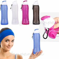 500ml Collapsible Folding Drink Water Bottle Kettle Cup Silicone Travel Sports