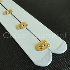"""White Busk With Golden Knobs,Corset Fastener,2"""" Wide,Corset Making Supplies"""