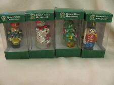 Christmas House Blown Glass Christmas Ornaments Assorted Lot of 4