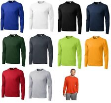 SPORT-TEK MEN'S MOISTURE WICKING DRY FIT LONG SLEEVE T-SHIRT XS-4XL ST350LS