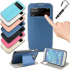 Madcase S View Smart PU Leather Plastic Case Cover for Samsung Galaxy S4 i9500