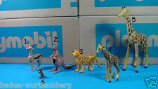Playmobil safari zoo kangaroo gazelle chetah giraffe animal PICK one toy 123