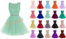 New Short Cute Ball Prom Party Cocktail Bridesmaid Dress Size 6 8 10 12 14 16 18