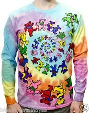 Grateful Dead - Spiral Bears - Long Sleeve Tie Dye T Shirt
