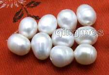 Wholesale 10 pieces Big 10-11mm White Rice Natural Freshwater 2mm hole pearl-644
