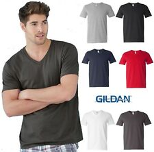 Gildan Mens Softstyle V-Neck T-Shirt  Small to 3XL- 64V00